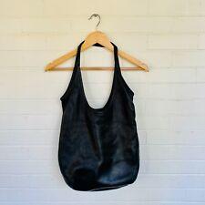 Rough & Tumble Black Leather Hobo Handbag Shoulder BagPurse Day Sling $209