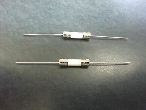 Pack of 2 - 3.15A Ceramic Axial Fuse (Pigtail) 250V 5x20mm USA Free Shipping!