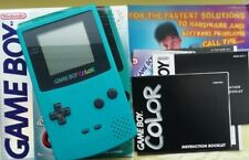 Boxed Teal Green Nintendo Gameboy Color Handheld Console Amazing Condition