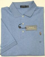 NWT $98 Polo Ralph Lauren Short Sleeve Heather Blue Mesh Shirt Mens Big NEW