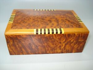 THUYA WOOD LEMON BOX/JEWELLERY/TRINKETS from Morroco FAIRTRADE AND HANDMADE