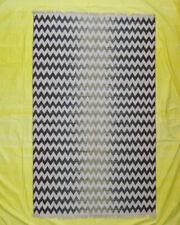 Woolen Porch Floor Mat Living Room Zig-Zag 5'x8' Indian Kilim Multi Color Rugs