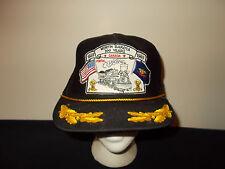 VTG-1980s North Dakota Canada 100 years captain leaf rope snapback hat sku8