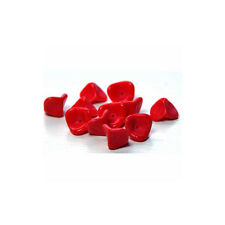 Red Flower Beads Opaque Czech Glass Great Valentine Color Three Petal Trumpet