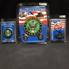 Us Army Pins Patch Challenge Coin Key Ring New Military Veteran Combat Patriotic