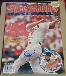 Mark McGwire St Louis Cardinals SIGNED AUTOGRAPHED Street & Smith's Magazine BAS