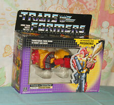 original G1 Transformers HEADSTRONG in box with cardboard insert bubble