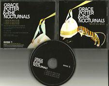 GRACE POTTER & THE NOCTURNALS Never Go Back PROMO DJ CD single w/ PRINTED LYRICS