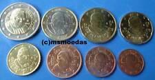 Vaticano kms 8 monedas del euro 2012 con 1 centavos - 2 euro euro monedas, el papa Benedicto XVI