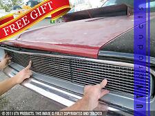 GTG 1968 Dodge Charger 3PC Polished Overlay Billet Grille Grill Kit