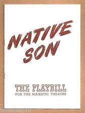 "Canada Lee ""NATIVE SON"" Orson Welles / Anne Burr / Richard Wright 1942 Playbill"