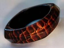 Bangle Bracelet Brown Snake Animal Print Lucite