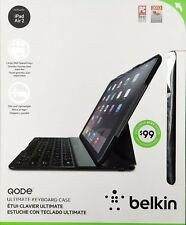 NEW Belkin QODE Ultimate Keyboard Case for iPad Air 2 BLACK iPad Pro 9.7""