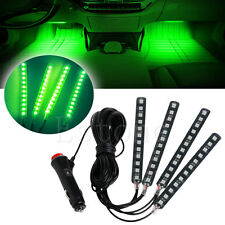 New Green 4x12LED Car Interior Light Atmosphere Decorative Light Neon Lamp Strip