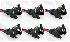 6 - EV1 Fuel Injector Connector Plug Clip Pigtail Quick Disconnect