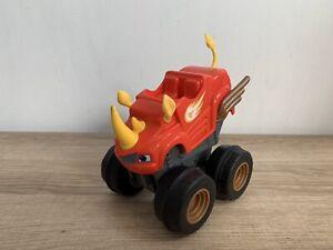Blaze And The Monster Machines Slam & Go Rhino Blaze Monster Truck Toy In VGC