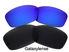 Galaxy Replacement Lenses For Oakley Hijinx Black&Blue Polarized 2 Pairs