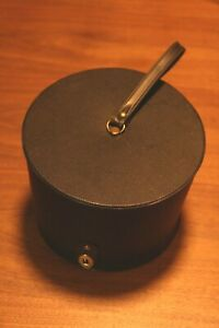 Vintage 1960s Everbest Hollywood Florida Hat or Wig Travel Box Classic Black
