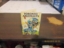 CFL Toronto Argonauts Vintage 1979 Logo Pocket Schedule