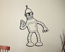 Bender Vinyl Decal Futurama Movie Wall Sticker Cartoon Robot Art Room Decor 7qsz