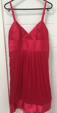 Tokito Size 10 Red Silk Slip Formal Party Cocktail Dress EUC