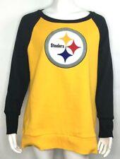 NFL Team Apparel Womens Pittsburgh Steelers Logo Crew Neck Sweatshirt XL NEW