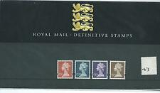 GB - PRESENTATION PACK - PACK NO 43 - MACHIN DEFINITIVES -  to £5.00