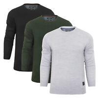 CLEARANCE New Mens Brave Soul Lightweight Fine Knit Jumper Black Grey Khaki S-XL