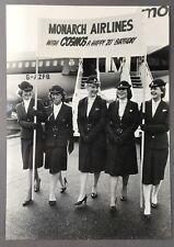 MONARCH AIRLINES CABIN CREW PRESS PHOTO COSMOS 20TH BIRTHDAY STEWARDESS B720