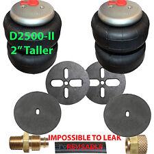 "2 2500-II Air Bags 3/8"" Fittings Airhose Springs Suspension w/Circle Brackets"