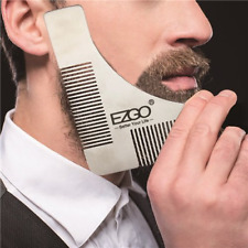 EZGO Stainless Steel Beard Comb Facial Hair trimming Shaping Template Tool