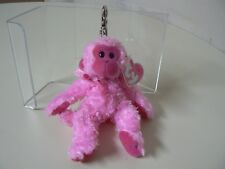Ty PINKYS BEANIE JULEP MONKEY WITH BOW AND CLIP