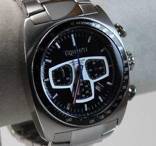 Triumph Men's Sports Watch, Stainless Steel Case, Black/Silver Chrono Dial