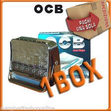 Porta tabacco OCB in metallo, con ROLLATORE CARTINE