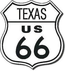 Texas Route 66 shield metal sign (de shield)