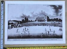 Antique Vintage Cricket Match Print: Darnall near Sheffield c1825: Reprint