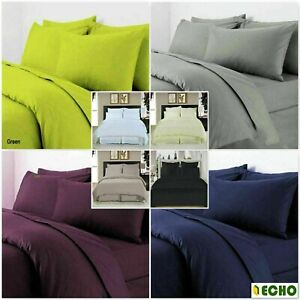 Echo Fine Quality 100% Egyptian Cotton Duvet Quilt Cover With Pillowcases TC 300