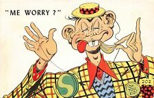"G7/ Alfred E Neuman Postcard Chrome ""Me Worry?"" Oh You Kid 4"