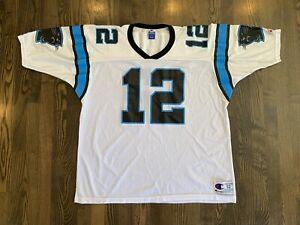Vintage KERRY COLLINS #12 Carolina Panthers Champion Jersey Size 52 XXL 2XL