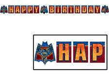 Batman Heroes and Villains Happy Birthday Plastic Banner 1 Count Party Supplies