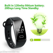 Bluetooth 4.0 Smart Watch Wristband Health Bracelet Heart Rate Fitness Tracker