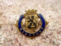 wunderschöner alter Anstecker Abzeichen Nieuport Belgien Wappen Anstecknadel