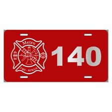 Personalized Engraved // Firefighter // License Plate
