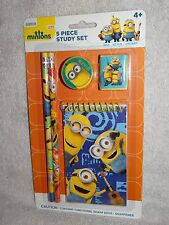 DESPICABLE ME MINIONS SCHOOL SUPPLIES STATIONERY 5 PIECE SET BRAND NEW SEALED