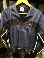 BRAND NEW RETRO 1998 ADIDAS BOYS SZ L WIND JACKET EVOL LINED NY/BK/ W STRIPES