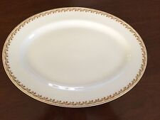 Haviland Limoges Schleiger 101A Rust Flowers Green Leaves Platter