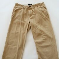 American Eagle Mens Relaxed Straight Khaki Chino Pants Tag 30x32 Measured 31x30
