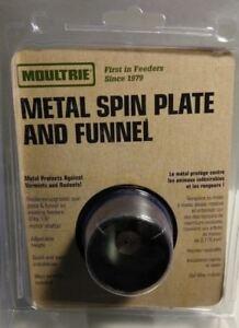 NEW Moultrie Metal Spin Plate & Funnel Kit pig Deer BIG Game Feeder MHF-ASPF P4