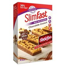 SlimFast Chocolate Crunch Bars Meal Replacement Weight Loss Diet Snack 16 x 56g