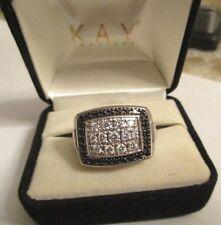 14K Gold White & Black Diamond Men's Ring Dia=2.00 Carats D-SI1   Value=$6,500